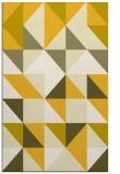 rug #1151227 |  yellow geometry rug