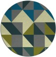 rug #1151407 | round green geometry rug