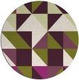 rug #1151523 | round purple rug