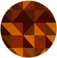 rug #1151551 | round red-orange popular rug