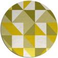 rug #1151571 | round white geometry rug
