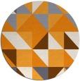 rug #1151643   round light-orange rug
