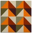 rug #1152015 | square orange retro rug