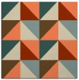 rug #1152231 | square orange retro rug