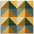 rug #1152343 | square yellow retro rug