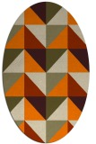 rug #1152383 | oval beige geometry rug