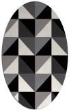 rug #1152387 | oval white retro rug