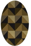 rug #1152403 | oval mid-brown retro rug