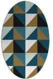 rug #1152413 | oval abstract rug