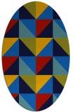 rug #1152415   oval blue retro rug