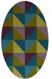 rug #1152459 | oval blue-green abstract rug