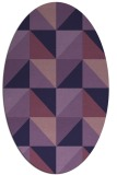 rug #1152479 | oval purple geometry rug