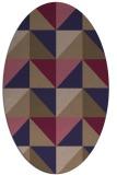rug #1152487 | oval blue-violet retro rug