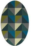 rug #1152511 | oval blue-green abstract rug