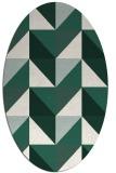 rug #1152515   oval green abstract rug