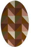 rug #1152531 | oval mid-brown retro rug