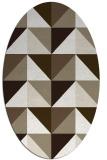 rug #1152543 | oval white retro rug