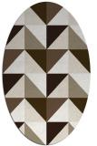 rug #1152546 | oval geometry rug