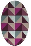 rug #1152547 | oval pink retro rug