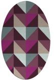 rug #1152549 | oval geometry rug