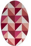 rug #1152619 | oval white geometry rug