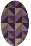 rug #1152631 | oval mid-brown retro rug