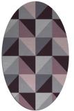 rug #1152635   oval purple retro rug