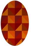 rug #1152643 | oval orange popular rug