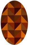 rug #1152655 | oval red-orange geometry rug