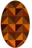 rug #1152658 | oval retro rug