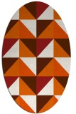 rug #1152667 | oval red-orange geometry rug
