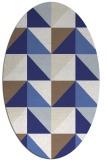 rug #1152679 | oval blue geometry rug