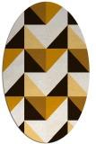 rug #1152683 | oval brown retro rug