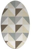 rug #1152687 | oval white retro rug