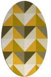 rug #1152699 | oval yellow rug