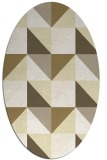 rug #1152703 | oval yellow abstract rug