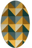 rug #1152711 | oval yellow abstract rug