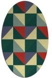 rug #1152715 | oval yellow retro rug