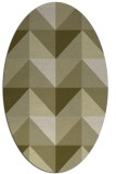rug #1152723 | oval light-green rug