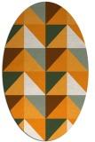 rug #1152743   oval light-orange abstract rug