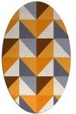rug #1152747 | oval light-orange abstract rug