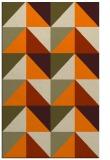 rug #1152751 |  orange retro rug