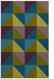 rug #1152827 |  green retro rug