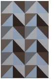 rug #1152859 |  blue-violet abstract rug
