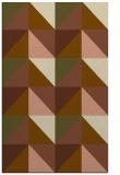 rug #1152899 |  mid-brown retro rug