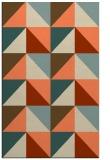 rug #1152967 |  orange geometry rug
