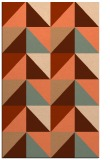 rug #1152971 |  red-orange geometry rug