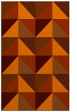 rug #1153023 |  red-orange retro rug