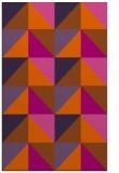 rug #1153031 |  red-orange retro rug