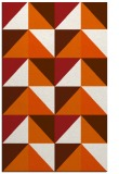 rug #1153035 |  red-orange geometry rug